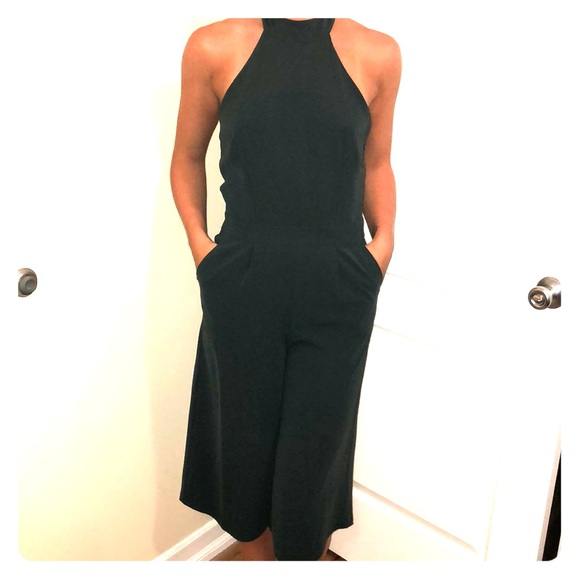 cc8d2e3a243 Forest green culotte jumpsuit